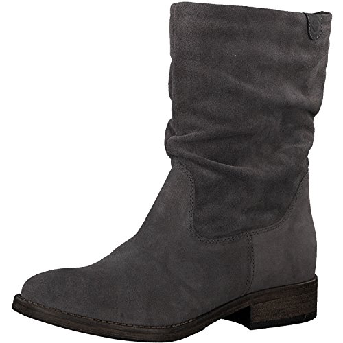 Tamaris Damen Stiefel 25472-21,Frauen Boots,Reißverschluss,Blockabsatz 3cm,Anthracite,EU 39