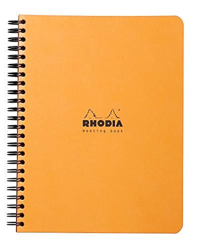 Rhodia 19341C - Cuaderno formato A5+ rayado, 80 hojas, color negro y naranja, Paquete de 5