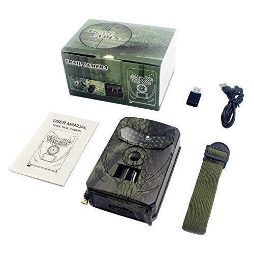 Irjdksd Jagdkamera Fotofalle 12 MP 1080P Wildlife Trail Nachtsicht Thermal Imager Videokameras für Pfadfinderspiel