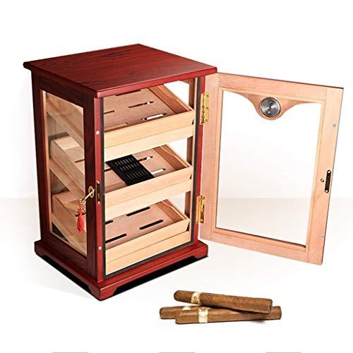 Luchtbevochtigers Roken Accessoires Sigarenkast grote capaciteit sigaar doos massief hout sigaar pure cederhout sigaar kast, sigaar vitrine Cigar Accessoires