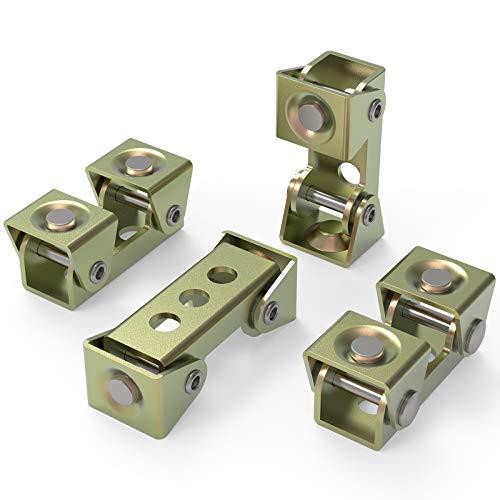 YESWELDER Magnetic Welding Clamps, Adjustable V-Type Fixture Clamp, Suspender Fixture Adjustable Pads Kit(4 Pcs)
