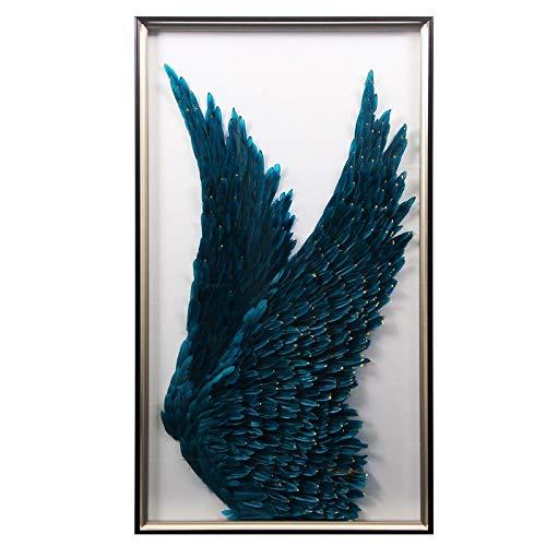 CUTMG Pincel Abstracto Minimalista Moderno Pintura Decorativa Pasillo Pasillo Dislocación Pintura geométrica Tira Vertical (70x150cm) Sin Marco