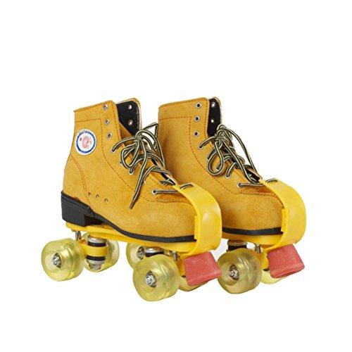 LBY Erwachsene Inline & Roller Skating Quad Skates Verstellbare Laufstiefel Unisex, 42-43