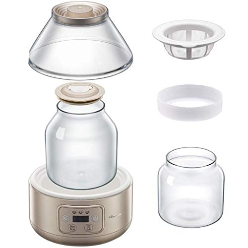 Buy Discount HIZLJJ Yogurt Maker Automatic Digital Yogurt Maker Lids Time & Temperature Control Disp...