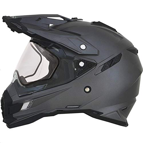AFX FX-41DS Solid Mens Snow Helmets - Gray - Large