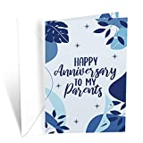 Prime Greetings Anniversary Card Parents (Mom and Dad)