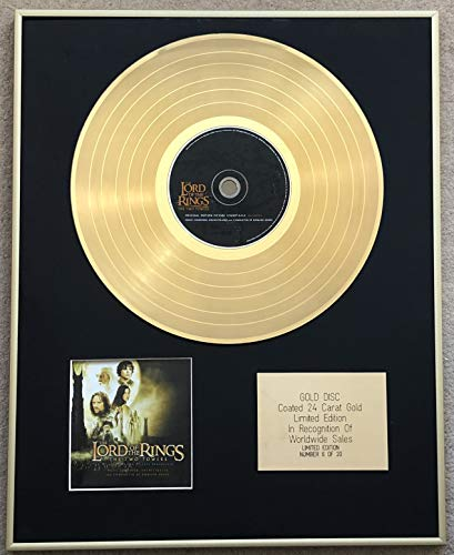 Century Music Awards - Lord of The Rings - Ltd Edition CD 24 Carat Gold Coated Disc - The Two Towers (Original Soundtrack)