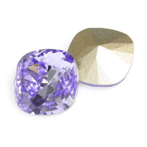 2 pcs Swarovski Crystal 4470 Cushion Square Provence Lavender Foiled Stone 12mm / Findings/Crystallized Element