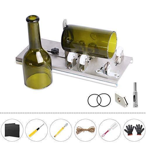 Snewvie Glasschneider für Flaschen Flaschenschneider Glasschneider Bottle Cutter Kit zur DIY Dekoration Flaschen Pflanzmaschinen Flaschen Lampen Kerzenständer (Set H)