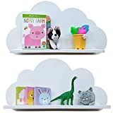 Estantes en la nube disponibles en blanco, rosa, azul o gris para niños,...