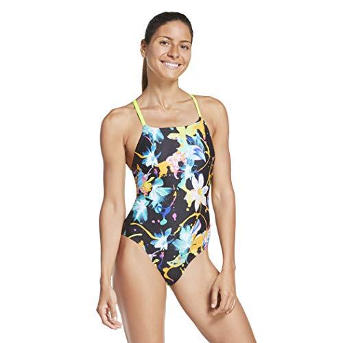 Speedo Women's Swimsuit One Piece Endurance Turnz Tie Back Printed