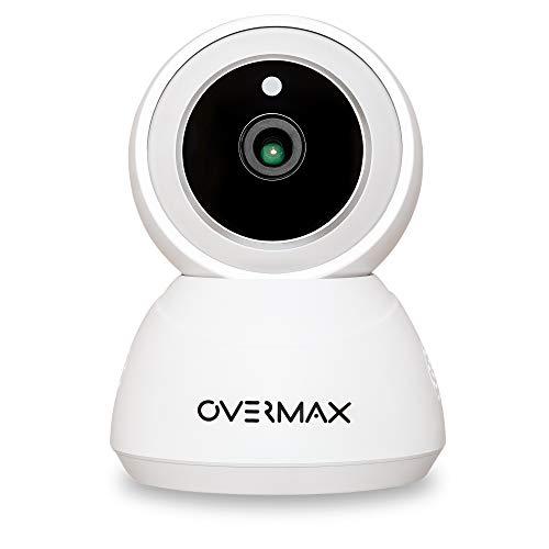 Overmax Cámara inalámbrica Camspot 3.7 WiFi IP, grabación de vigilancia Full HD, modo nocturno, seguimiento automático, micrófono y altavoz, dispositivo inteligente Google Home, Amazon Alexa