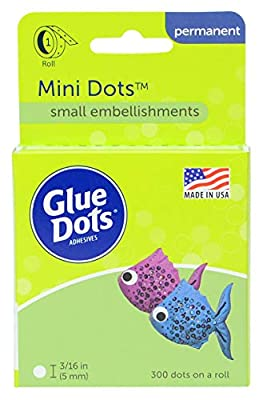 Double-Sided Mini Dots, 3/16'', Clear, Roll of 300