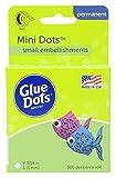 Glue Dots Double-sided Mini Glue Dots, Rollo de 300 puntos, permanente, redondo, 5 mm, uso versátil, fabricación de bricolaje, diseño y decoración de tarjetas
