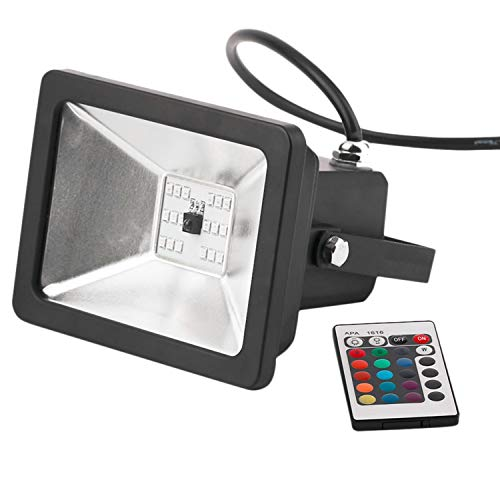 Fransande - Proyector LED RGB con mando a distancia (10 W, 16 colores, 4 modos, regulable)
