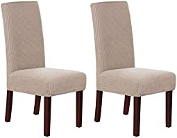 Stretch Dining Chair Velvet Fabric Slipcovers Washable Removable Chair Slipcover Dining Chair Protector Cover for Dining Room