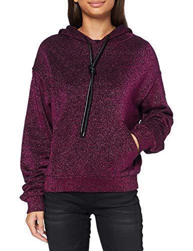 Replay W3878d.000.22672 Sudadera con capucha , rosa ( 110 Durk Fuxia Lurex ) , XXS para Mujer