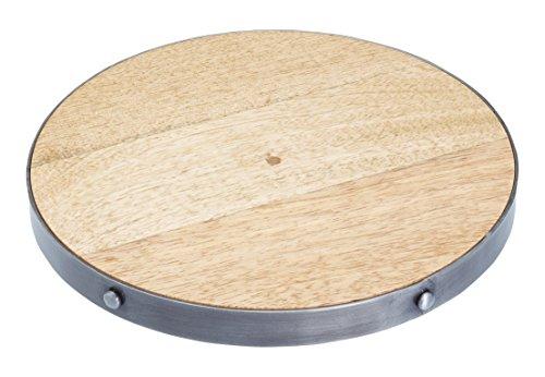 Kitchen Craft Round Wooden Trivet Soporte de Tetera, madera, 20 x 20 x 7 cm