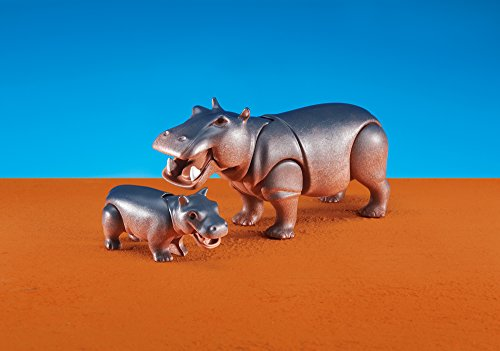 Playmobil 6421 - Juego de hipopótamo con bebé (embalaje de aluminio)