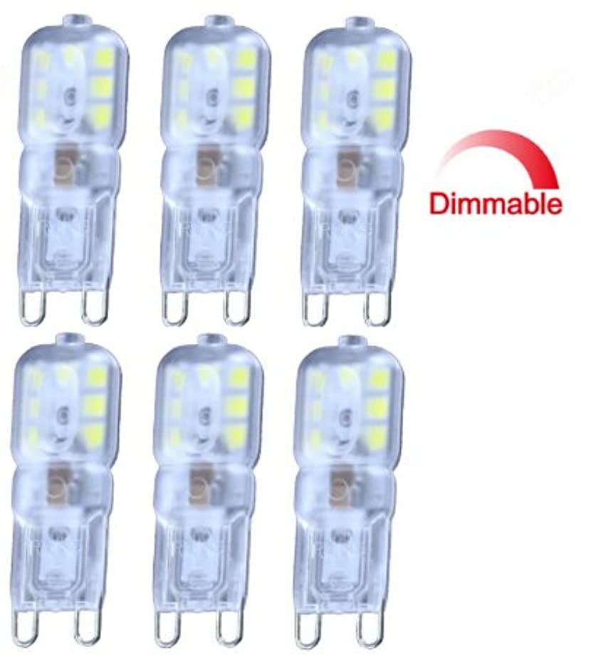 Best to Buy (6-PACK) Dimmable G9 Base 14SMD2835 LED Light Bulb Lamp 3.5Watt 100-130V White,5000K, Replacement to 35W halogen Bulb.