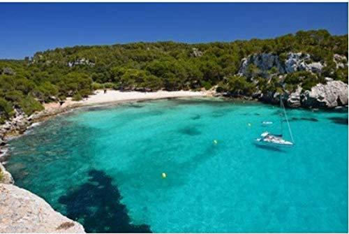 ZZXSY Puzzle Juguetes De Madera para Adultos 1000 Piezas Impresionante Vista De La Bahía De Macarella Y Agua De Mar Azul Menorca Islas Baleares España Regalo Personalizado