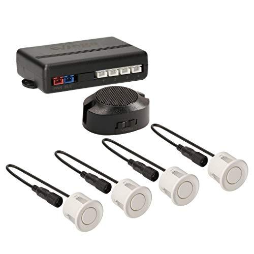 VSG® Einparkhilfe mit einem akustischen Signalgeber und inklusive 4 Sensoren in weiß für hinten