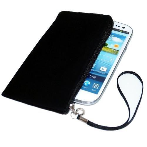 Handytasche für Smartphone Blaupunkt SL02 SL 01 SL 04 SL05 Etui Softcase Schutzhülle Tasche Schutzcase mit Trageschlaufe & Reißverschluss schwarz