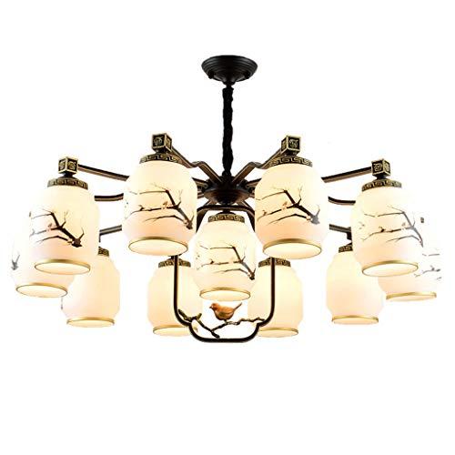 Hmvlw candelabro Estilo Chino Simple Hotel araña de Cristal de Sala de Estar Comedor Dormitorio lámpara E27 (Size : D100cm*h40cm)
