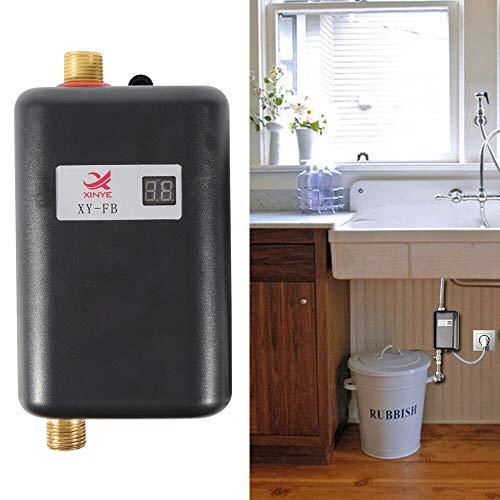 OUKANING Mini Tankless Elektrischer Durchlauferhitzer 3.4 kW lektronisch Tankless Water Heater Mini Klein Durchlauferhitzer