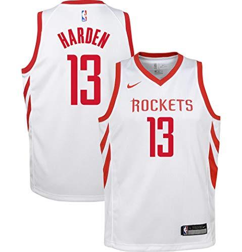 Nike James Harden Houston Rockets NBA Youth 8-20 White Home Association Edition Swingman Jersey (Youth Medium 10-12)