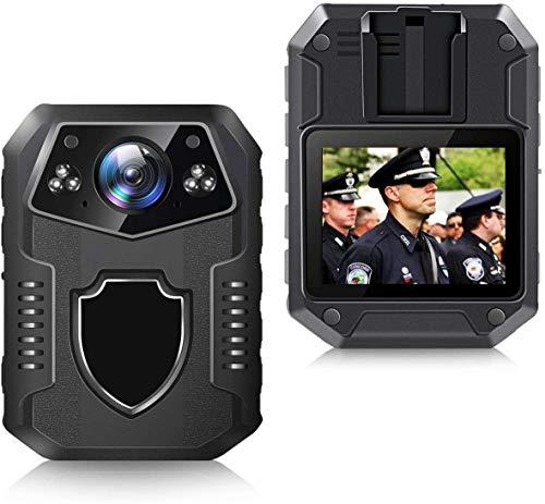 CAMMHD-Videorecorder 2160p Tragbare Full-HD-polizeiKamera, 3000 mAh/Infrarot-Nachtsicht/Body cam (64GB)