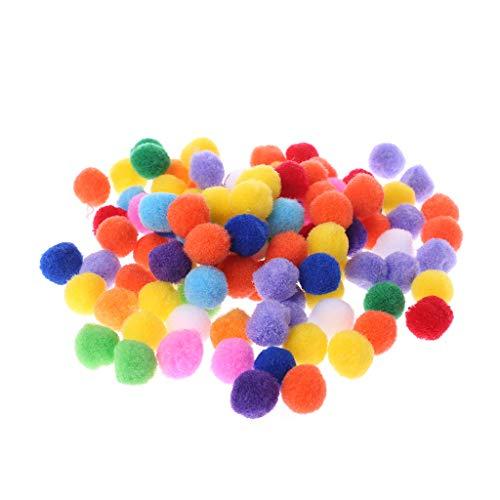 Yushu 100 pompones redondos suaves y esponjosos para manualidades de 20 mm (material: fieltro)