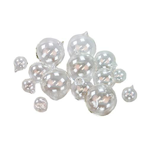 Glasblasen zur Dekoration 3er Set. 5 x Glasblase Ø 1,5cm - 5 x Glasblase Ø 2,5cm - 5 x Glasblase Ø 3,5cm Luftblasen aus Glas zur Dekoration Glasdeko