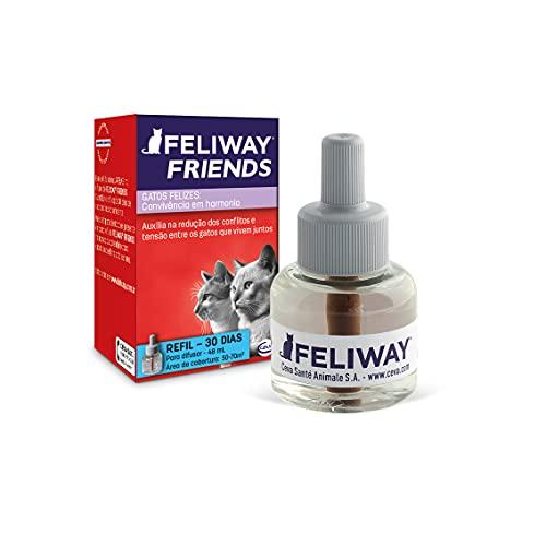 FELIWAY FRIENDS Refil - harmonia entre os gatos da casa - indicado para perseguições, olhar fixo, brigas e tensão - 48ml