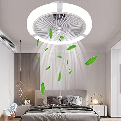 Luz del ventilador de techo luz invisible del ventilador de techo luz del ventilador eléctrico LED velocidad del viento ajustable con control remoto ventilador de techo del dormitorio con luz
