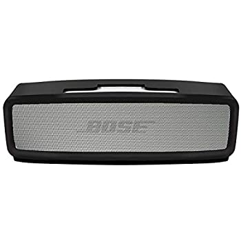 Silicone Soft Case Compatible Bose Soundlink Mini 1 and 2 Speaker Bose Mini case/ Gel Soft Skin Cover/ Silicone Waterproof Rubber Case Travel Carry Pouch  Black