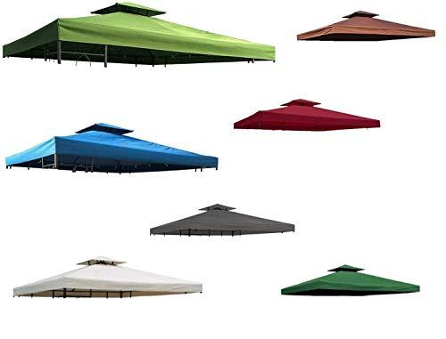 habeig Ersatzdach 340g/m² Dach EXTRA STARK PVC Beschichtung Pavillondach 100% Wasserdicht Pavillon knapp 3x3m NEU (Anthrazit)