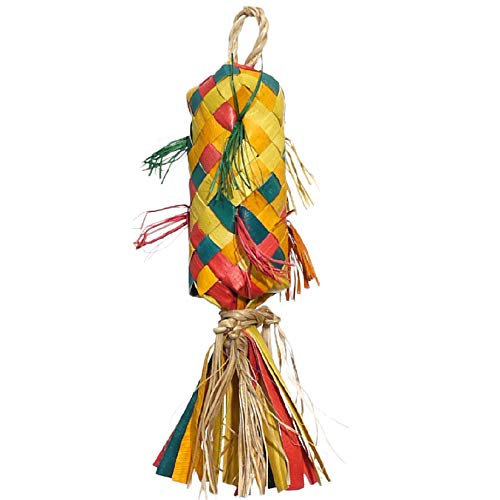 Rosewood Woven Wonders Coloured Pinata Parrot Toy, Small