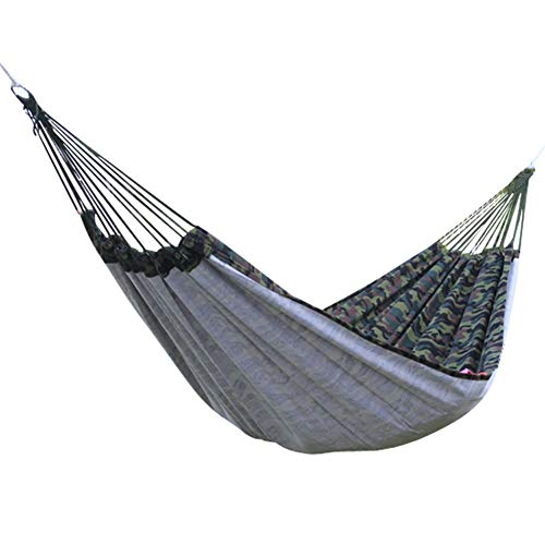 Cacoffay Single Camping Portable Parachute Hammock Nylon Rope Hammock Swing - Support 330 lbs Weight for Hiking, Travel, Self-Driving Tour, Beach, Yard Gear