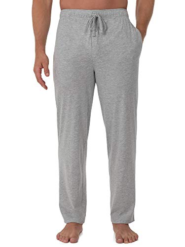Fruit of the Loom Men's Extended Sizes Jersey Knit Sleep Pant (1-Pack), Light Grey Heather, 3X