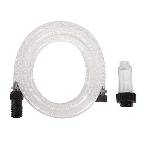 DELTAFOX Ansaugschlauch Set mit Filter zur Regenwassernutzung - zum Ansaugen aus Regentonnen und Wasserbehältern - 3,2 m Länge - für Hochdruckreiniger DC-HPW 2115