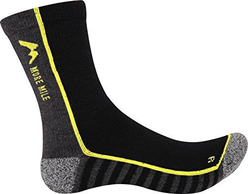 More Mile Strive - Calcetines de Correr Acolchados antiampollas, Color Negro, tamaño 11-13