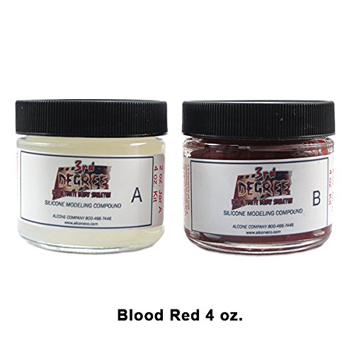 3rd Degree Silicone Molding Compound Wound Scar Prosthetic SFX Simulation, Blood Red 4oz