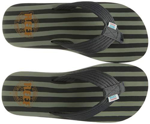 Reef Original Stripes, Infradito Uomo, Grigio/Verde, 37.5