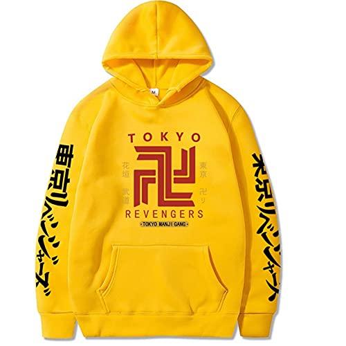 2021 Nuevos Hombres y Mujeres Tokio Venceros Hoodie -3D Impresión de Tokio Vencidos Cosplay Sweater Sweater Largo Manga Pullover Hoodie Hombres y Top Menores (Color : 2i, Size : S)