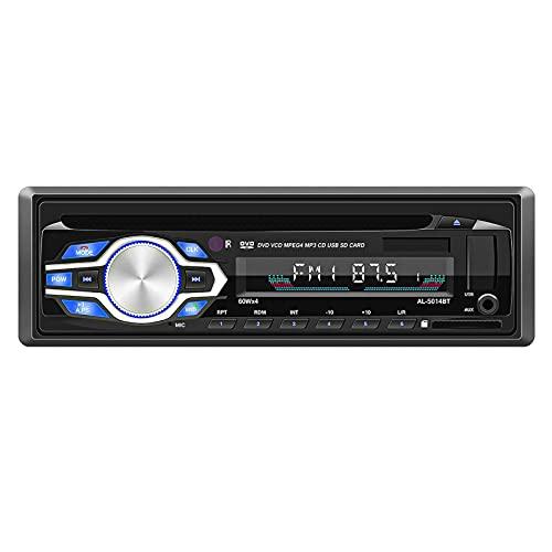 Mothcattl Estéreo para Coche 5014BT con Bluetooth, Hardware De Conexión Manos Libres con Disco AUX/U/Altavoz De Radio FM, Reproductor MP5 Automático para Vehículos Negro