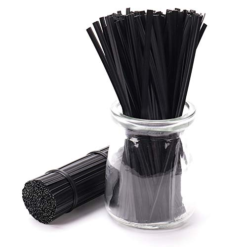 Sago Brothers 500pcs 5 Inches Plastic Black Twist Ties