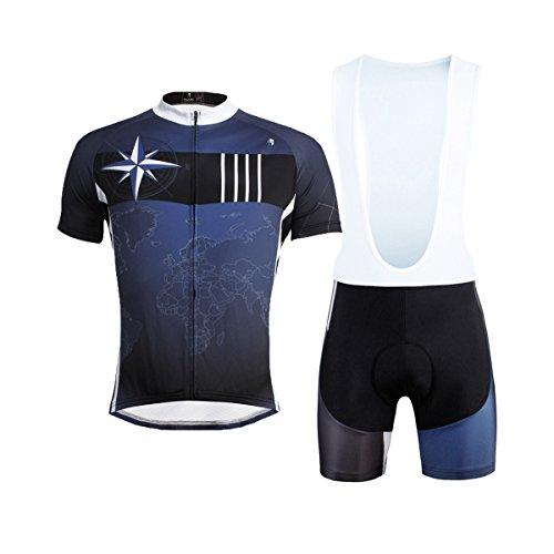 Hebike - Conjunto de ciclismo con maillot de manga corta y culote...