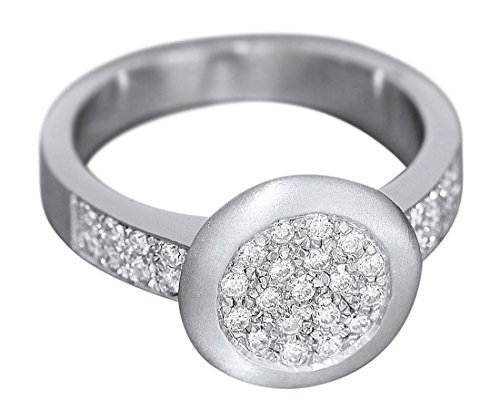 Hobra-Gold Eleganter Brillantring 0,50 ct. - Ring Weißgold 585 massiver Weißgoldring Gold