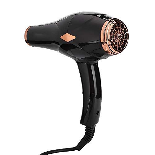 Secador de pelo profesional, ajustes de calor negro 50 a 60Hz 2000W 220V para salón de pelo Enchufe de la UE 220V
